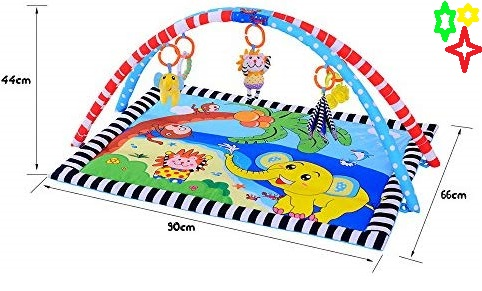 Baby safety mat play elephant floor size