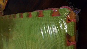 Close Up Green Safety Mats
