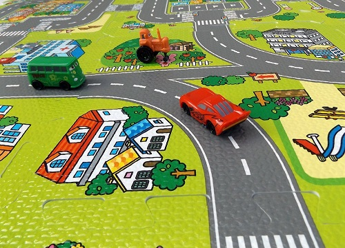 Close Up Picture of Road Safety Mats