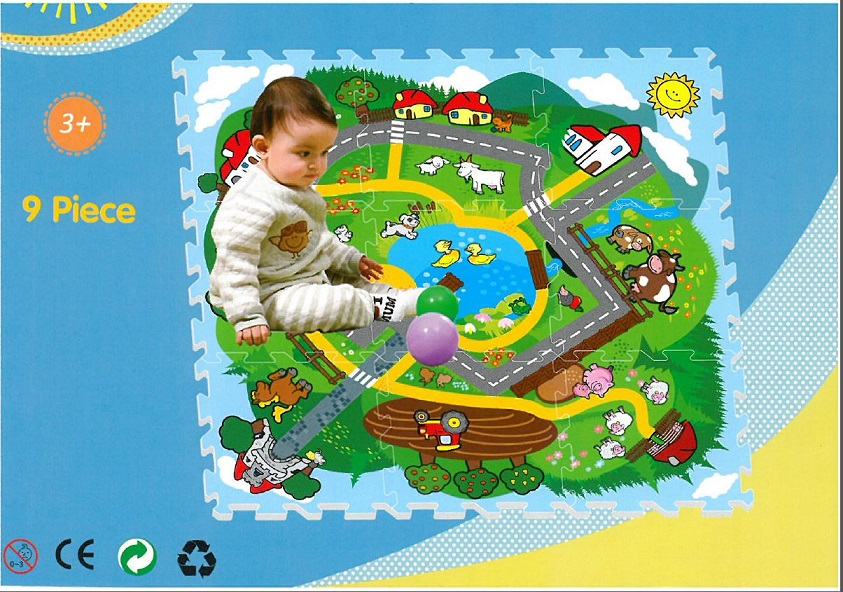 EVA Safety Mats with road and farm animals