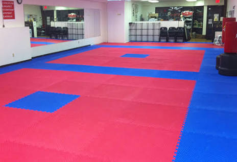 Larger Designs of our Red and Blue 22mm Safety Mats