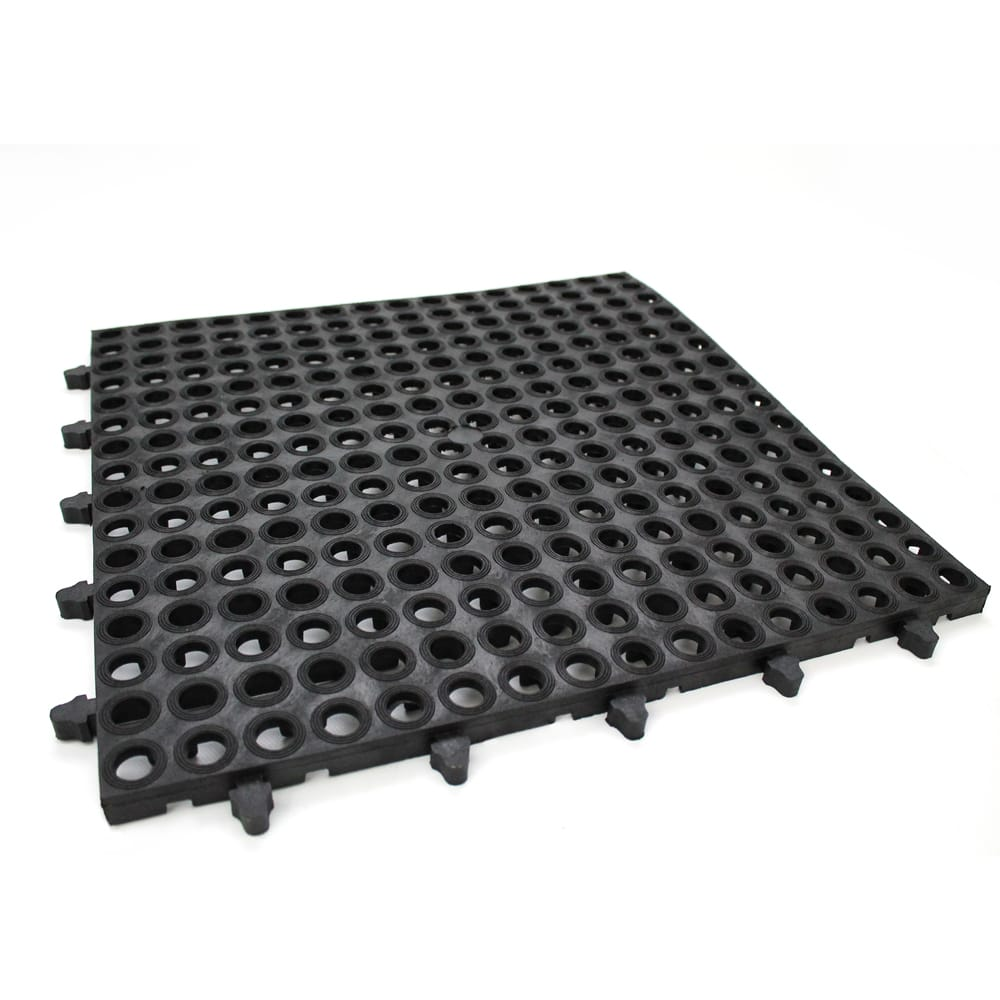 100% Rubber and Plastic Interlocking Drainage Mats